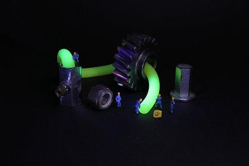 Industry, Fluorescence, Miniature Figures, Mechanics