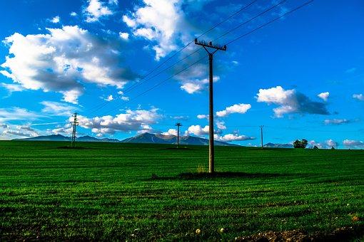 Heaven, Sky, Grass, Clouds, Slovakia, Nature, Electrics