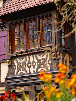 Stud, Alsace, House Facade, Old Houses, Village