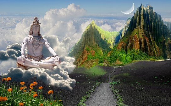 Shiva, God, Deity, India, Impression, Meditation
