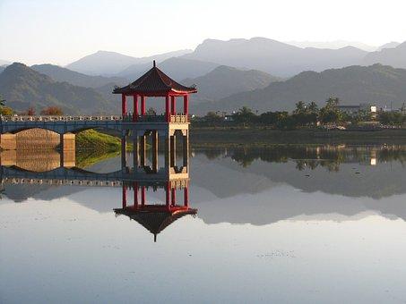 Lake, Meinong Lake, Meinong, Scenery, Pavilion