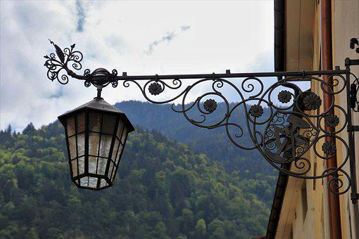 Lantern, Metal, Forged, Decorative, Decorative Lamp
