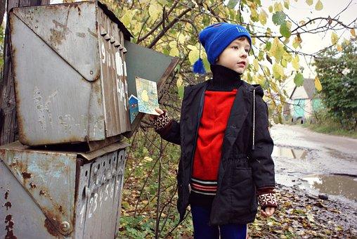 Mail, Mailbox, Russia, Village, Box, Letters, Postcard
