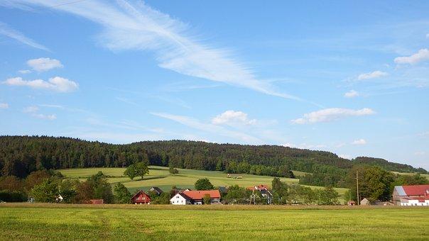 Land, Landscape, Farm, Pasture, Meadow, Sky, Clouds