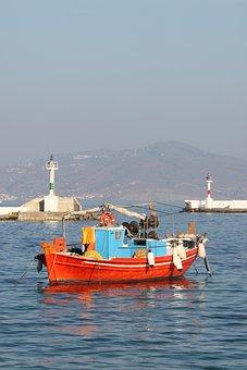 Boat, Greece, Greek, Sea, Mediterranean, Fishing, Sunny