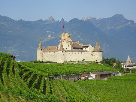Castle, Mountains, Swiss, Medieval, Historical, Fort