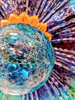 Multi Colored Glass, Sphere, Glass, Bright, Multi
