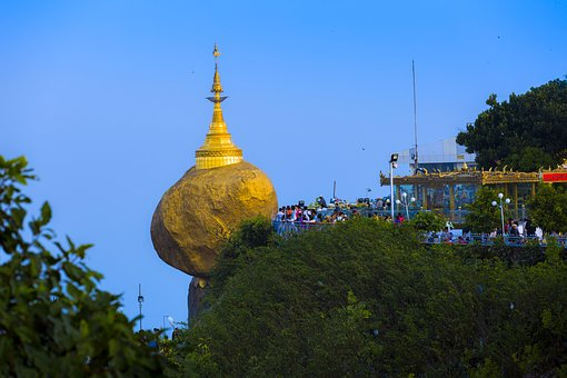 Pagoda, Myanmar, Temple, Place, Golden, Amazing