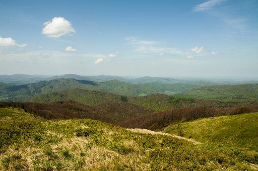 Landscape, Mountains, Nature, Green, Bieszczady