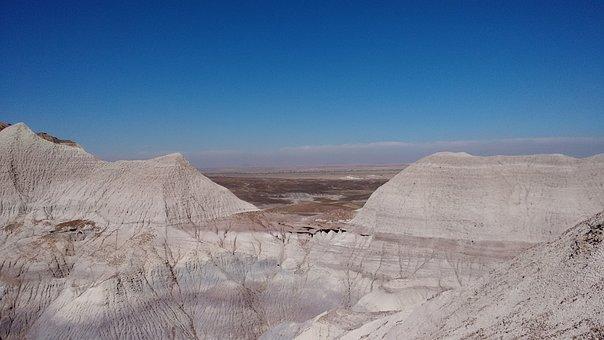 Landscape, Mountains, Nature, Painted Desert, Blues Sky