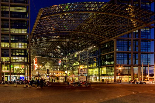 Night Photograph, Berlin, Central Station