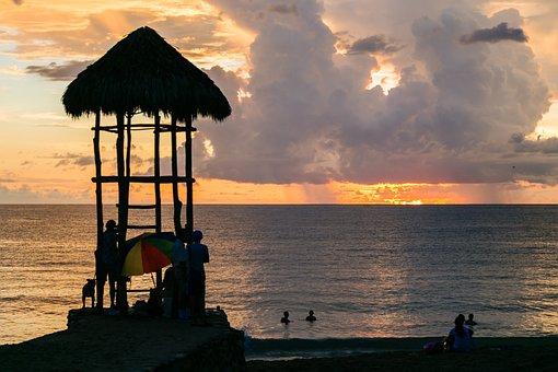 Sunset, Beach, Ocean, Sky, Water, Travel, Horizon