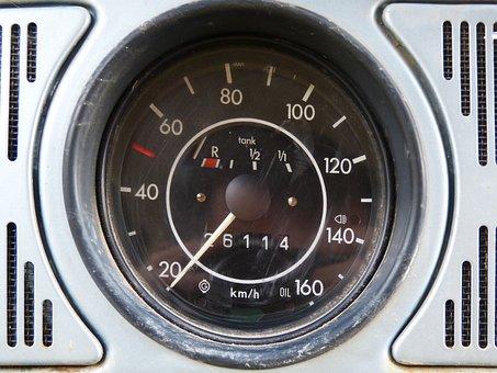 Automobilismo, Odometer, Marker, Volkswagen, Beetle