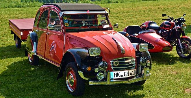 Oldtimer, Citrön 2cv, Auto, Old, Classic, Pkw, Old Car