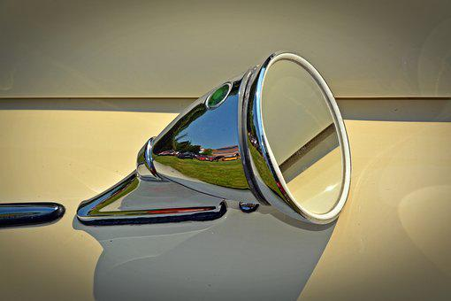 Oldtimer, Mirror, Auto, Old, Classic, Pkw, Old Car