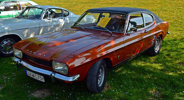 Oldtimer, Ford, Ford Capri, Auto, Old, Classic, Pkw