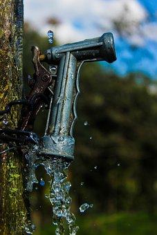 Water, Key, Wood, Hose, Rustic, Braces Water, Old