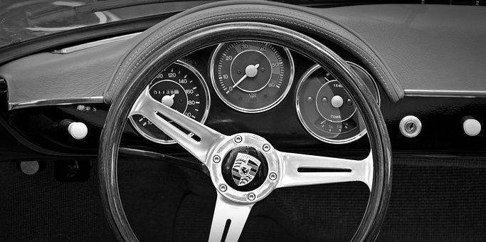 Oldtimer, Porsche 356, Instruments, Auto, Old, Classic