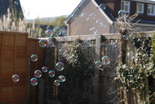 Bubbles, Outside, Fun, Summer, Happy, Blowing, Nature