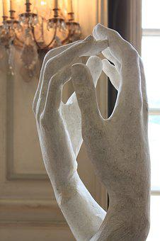 France, Paris, Rodin Art Museum, Sculpture, Stone