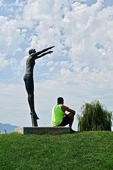 Statue, Resting, Symbol, Monument, Sculpture, Peaceful