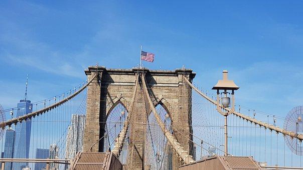 Brooklyn Bridge, Usa, Manhattan, Places Of Interest