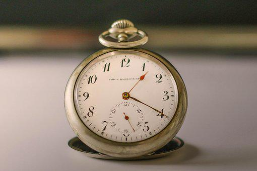 Clock, Pocket Watch, Antique