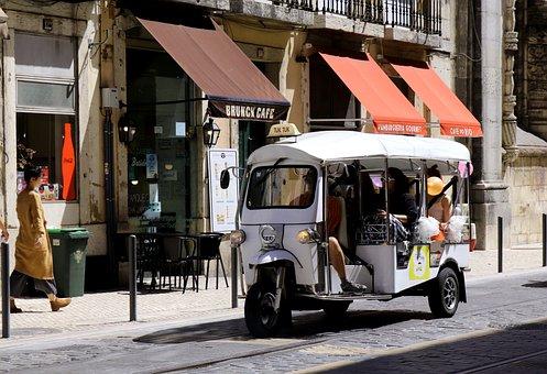 Lisbon, Tuk Tuk, Portugal, Taxi, Vehicle, Old Town