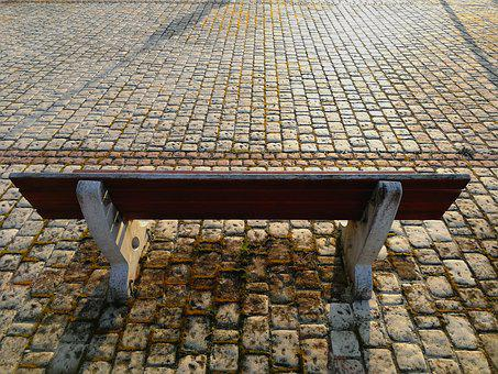 Bench, Paved, Perspective, Public Bench, Based