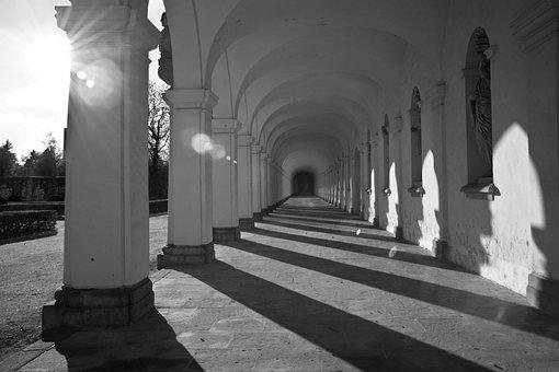 Column, Sun, Reflection