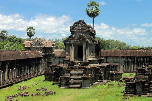 Cambodia, Ruins, Travel, Architecture, Stone, Ancient