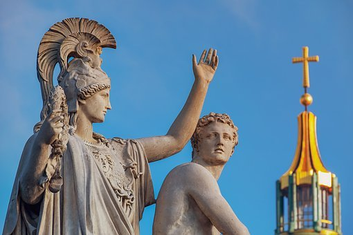 Monument, Sculpture, Greek Gods Figures, Carrara Marble