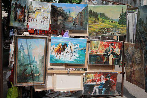 Pictures, Artists, Art, Vernissage, Street, Ukraine