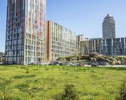Building, Tall, Grass
