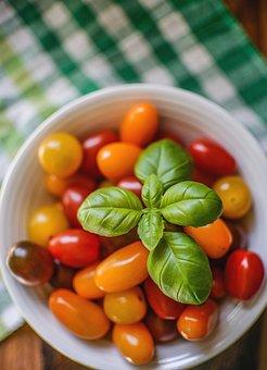 Basil, Tomatoes, Food, Tomato, Fresh, Vegetable