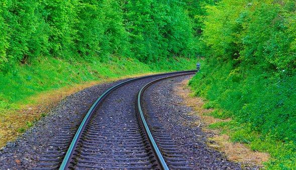 Track, Railway, Seemed, Railway Rails, Train, Threshold