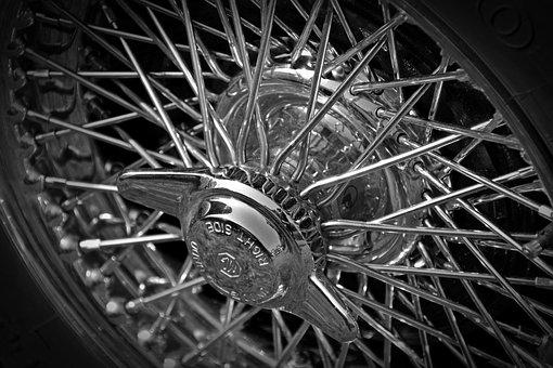 Oldtimer, Mg A, Spoke Wheels, Wing Nut, Auto, Old