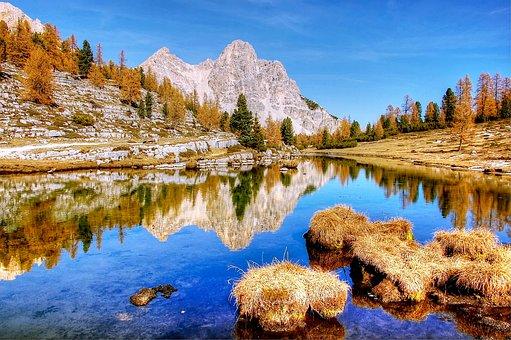 Mountains, Dolomites, Italy, South Tyrol, Alpine, View
