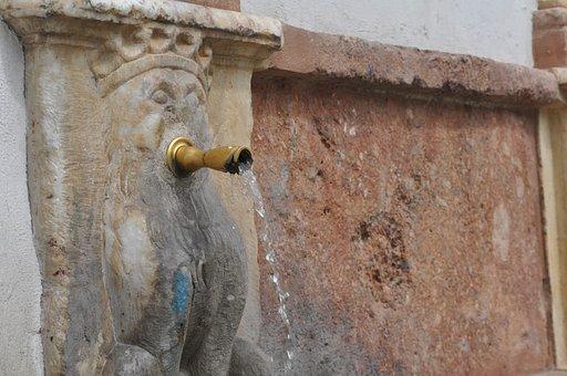 Baza, Granada, Andalusia, Water, Source, Stone