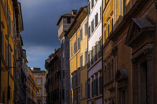 Street, Facade, Building, Architecture, Ancient, Roman