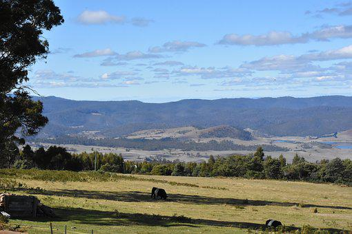 Farm, Scenery, Valley, Australia, Countryside, Rural