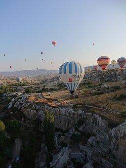 Balloon, Kapadokya, Famous, Valley, Goreme, Sunrise