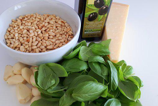 Basil, Basil Pesto, Garlic, Olive Oil, Oil