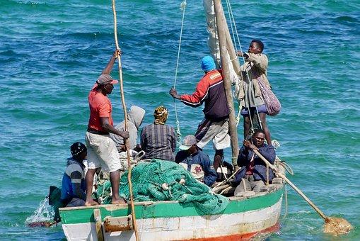 Fishing Boat, Fishermen, Boat