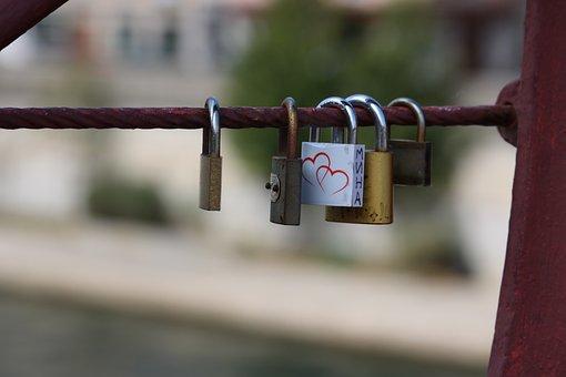 Cadena, Bridge, Lyon, Heart, Union, Key, France