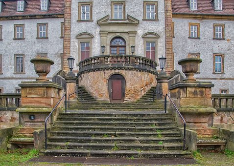 Castle, Input, Stairs, Emergence, Ailing, Building