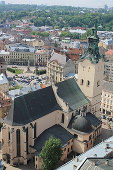 Cathedral, Church, Ukraine, Lviv, City Centre, Old Town
