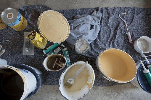 Painter, Color, Wall Color, Bucket