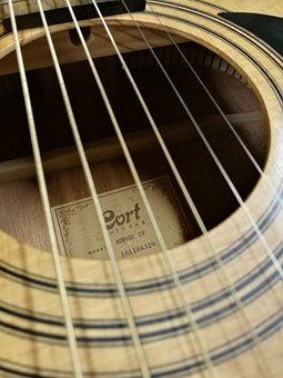 Guitar, Music, Cort, Musical, Sound, Instrument