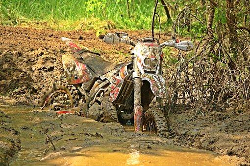 Swamp, Quagmire, Mud, Dirt, Dirtbike, Motorcycle, Dirty